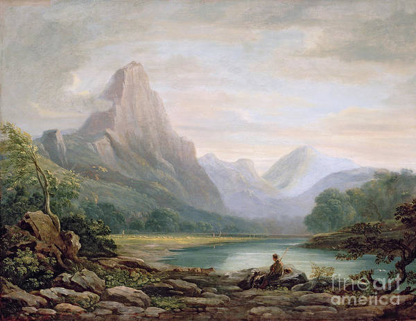 Wall Art - Painting - A Welsh Valley by John Varley