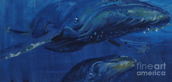 Painting - A Whale Of A Tail by P Anthony Visco