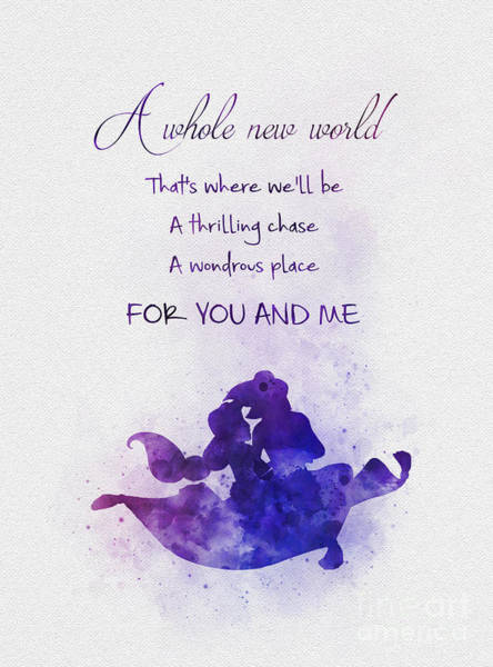 Watercolour Mixed Media - A Whole New World by My Inspiration
