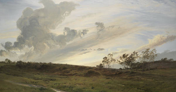 Terrain Painting - A Wild Evening After Rain, Yorkshire, 1869 by Henry Moore