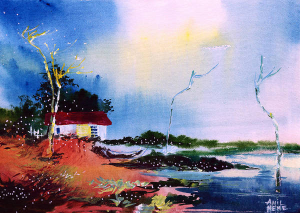 Painting - A Window To The Sky 2 by Anil Nene