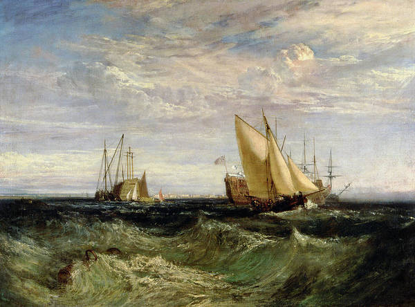 Stormy Sky Painting - A Windy Day by Joseph Mallord William Turner