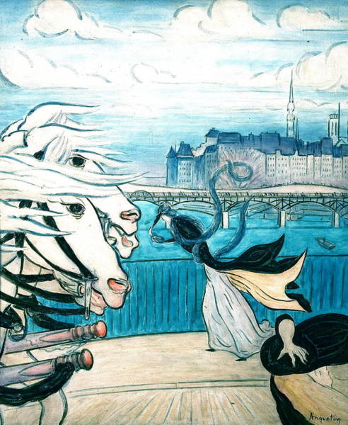 Wall Art - Painting - A Windy Day On The Banks Of The Seine by Louis Anquetin