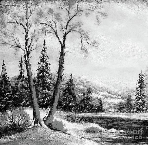 Wall Art - Painting - A Winter Dawn by Hazel Holland