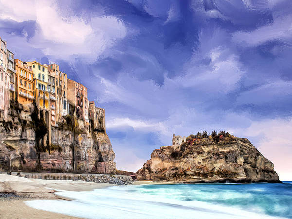Lake Como Painting - A Winter Day In Tropea Calabria by Dominic Piperata