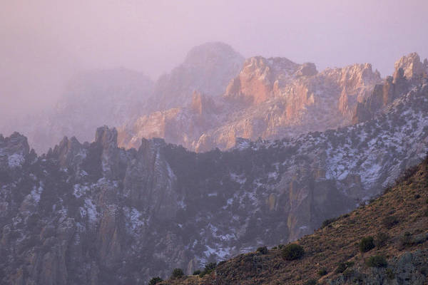 Photograph - A Winter Morning At The Chiricahua Mountains'  Portal Peak by Steve Wolfe
