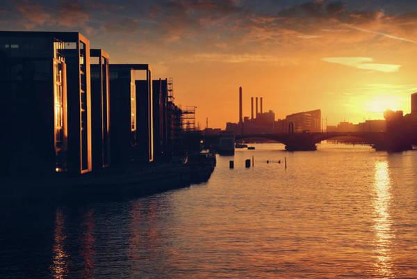 Scandinavian Photograph - A Winter Sunset From Knippelsbro Bridge In Copenhagen  by Carol Japp