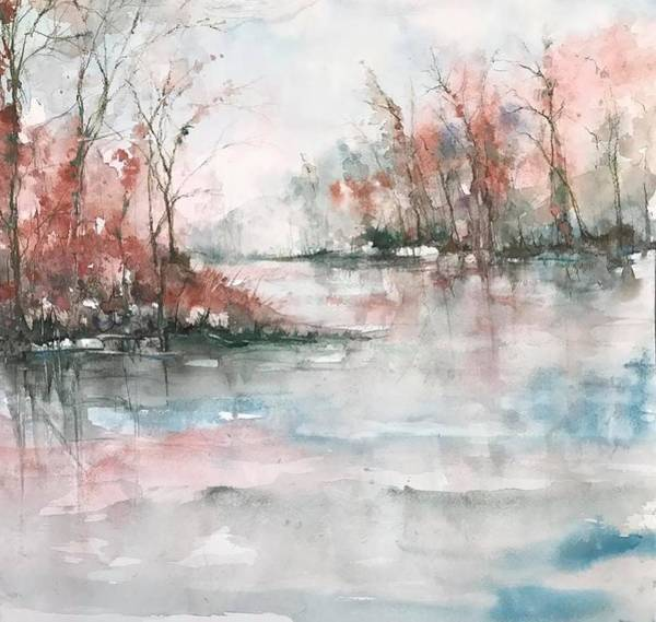 Painting - A Winters Dawn by Robin Miller-Bookhout