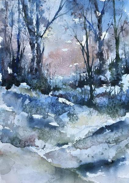 Painting - A Winter's Eve by Robin Miller-Bookhout