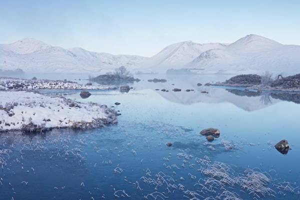 Photograph - A Winters Mist On Rannoch Moor by Stephen Taylor