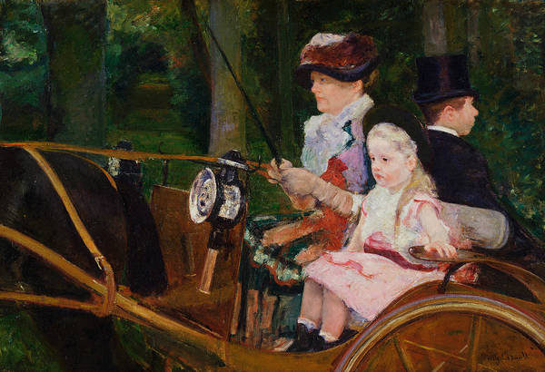 Painting - A Woman And A Girl Driving by Mary Cassatt