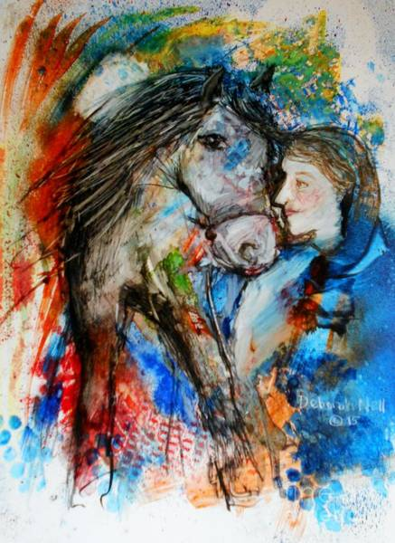 Painting - A Woman And Her Horse by Deborah Nell