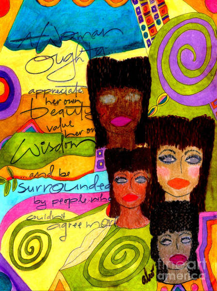 Wall Art - Mixed Media - A Woman Oughta Know... by Angela L Walker