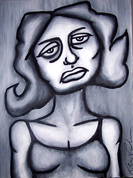 Wall Art - Painting - A Woman by Thomas Valentine