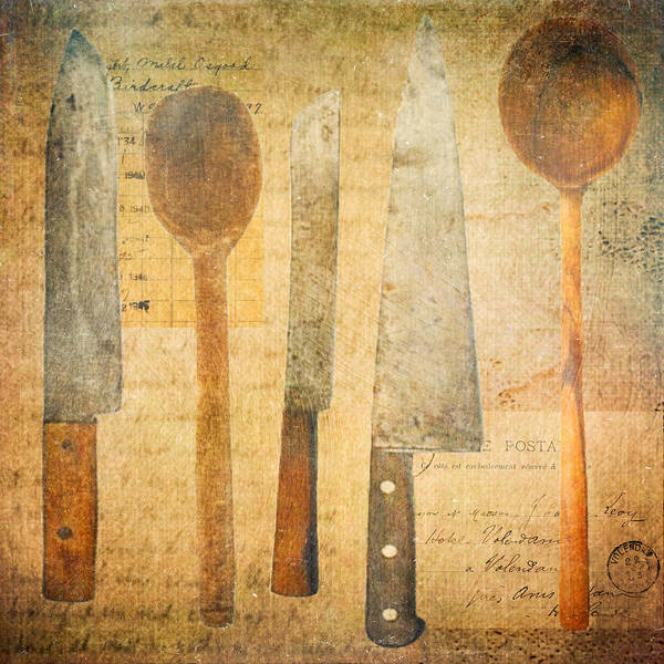 Wooden Spoon Digital Art - A Woman's Tools by Lisa Noneman