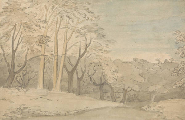 Painting - A Woody Landscape by William Blake