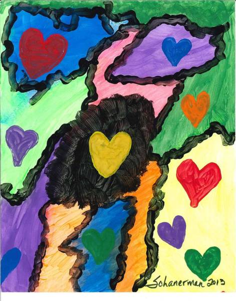 Painting - A World Of Hearts by Susan Schanerman