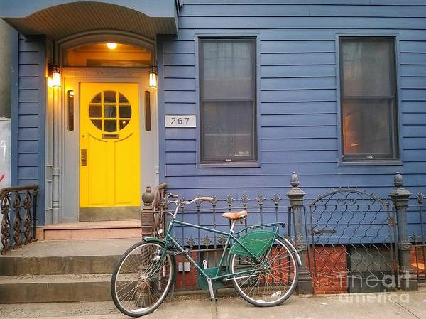 Photograph - A Yellow Door In Brooklyn  by Mary Capriole