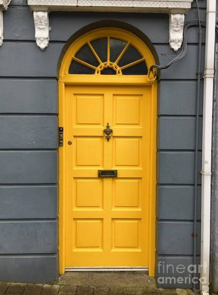 Photograph - A Yellow Door In Ireland by Suzanne Lorenz