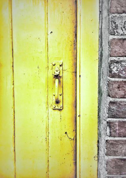 Wall Art - Photograph - A Yellow Door by Tom Gowanlock