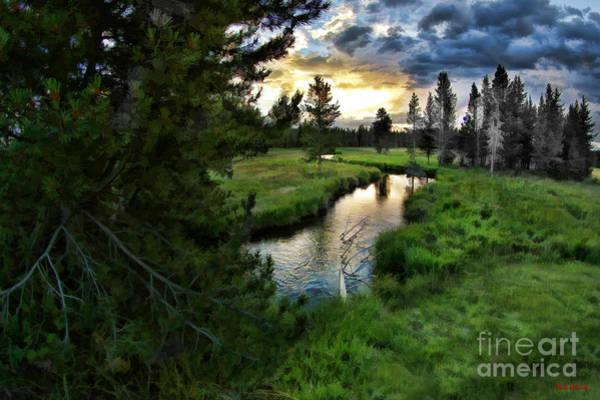 Photograph - A Yellowstone Sunset by Blake Richards