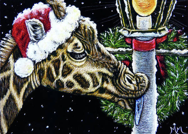 Painting - A Zoo Christmas Carol by Monique Morin Matson
