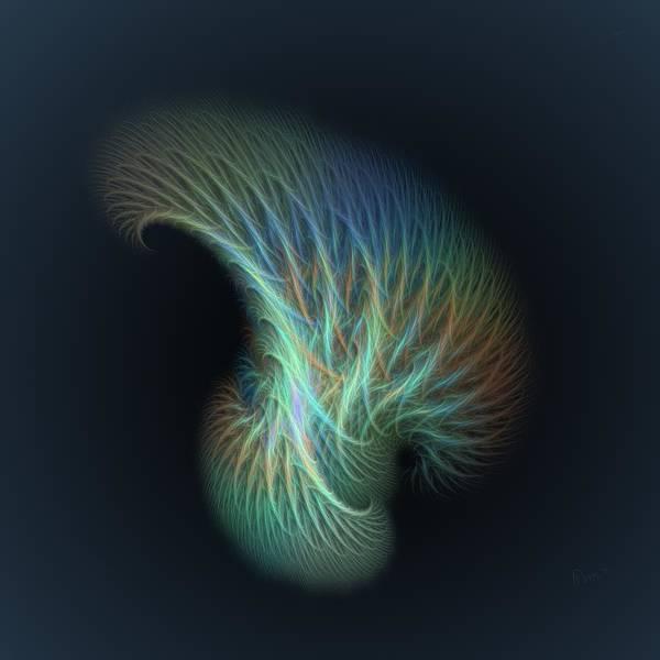 Self Similarity Digital Art - a013 Shaving Brush Of An Elf by Drasko Regul