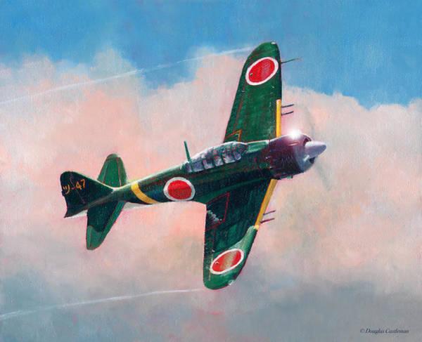 Painting - A6m-5c Zero by Douglas Castleman