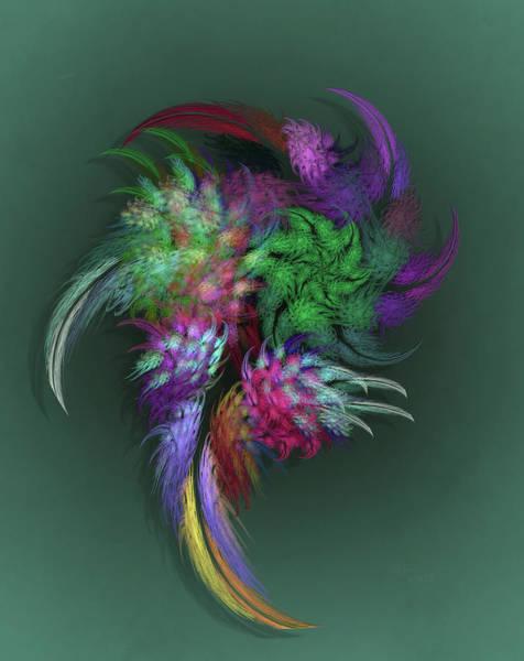 Self Similarity Digital Art - a070 Weird Multibeaked Bird-Of-Paradise by Drasko Regul