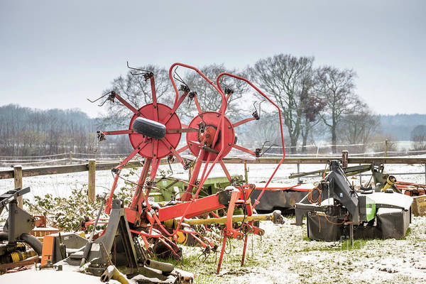 Photograph - Aagricultural Mechanism In Winter by Marina Usmanskaya