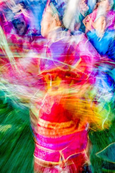 Powwow Wall Art - Photograph - Aaniiih Dance by Todd Klassy
