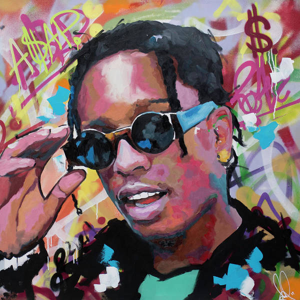 Hops Painting - A$ap Rocky by Richard Day
