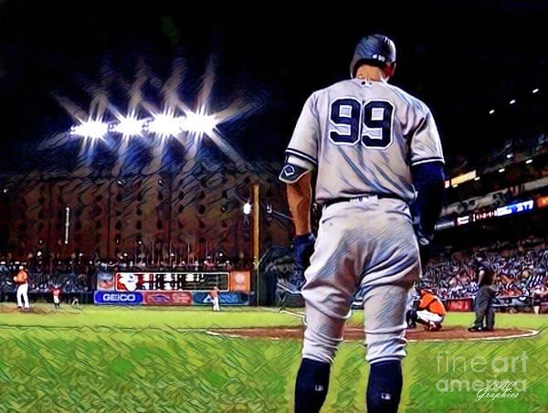 Yankee Stadium Digital Art - Aaron Judge On Deck by CAC Graphics