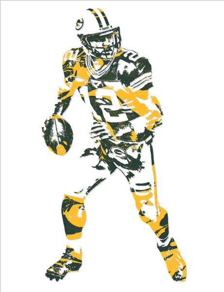 Wall Art - Mixed Media - Aaron Rodgers Green Bay Packers Pixel Art 18 by Joe Hamilton
