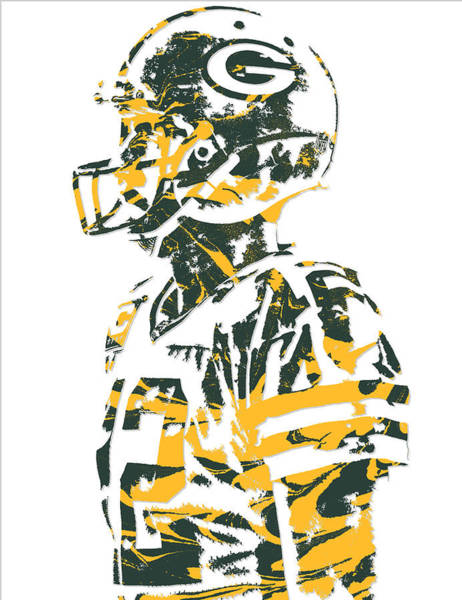 Wall Art - Mixed Media - Aaron Rodgers Green Bay Packers Pixel Art 19 by Joe Hamilton
