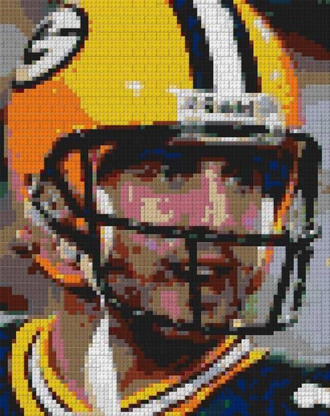 Aaron Rodgers Mixed Media - Aaron Rodgers Lego Mosaic by Paul Van Scott