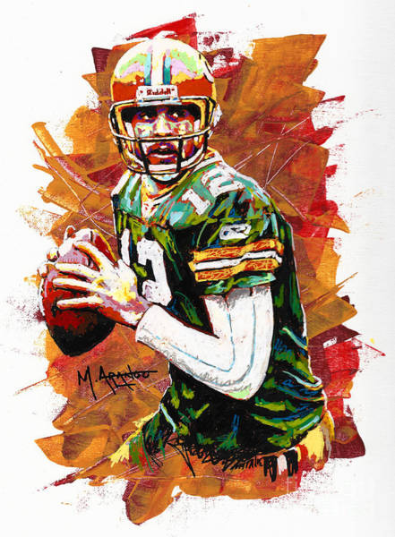 Aaron Rodgers Wall Art - Painting - Aaron Rodgers by Maria Arango
