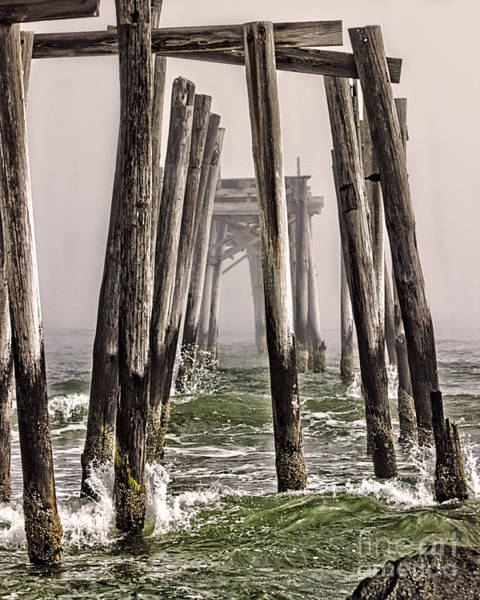 Wall Art - Photograph - Abandon Pier Thru The Fog by Tom Gari Gallery-Three-Photography