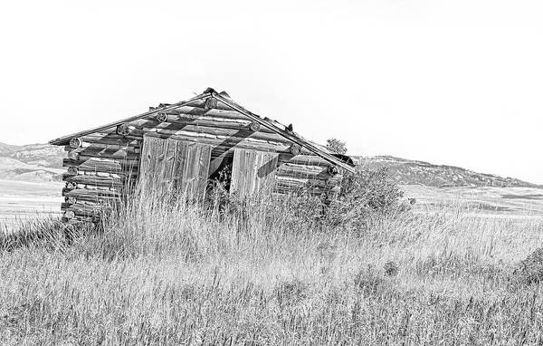 Wall Art - Photograph - Abandon Rustic Cabin Monochrome by Jennie Marie Schell
