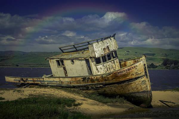 Abandon Ship Photograph - Abandonded Old Boat by Garry Gay
