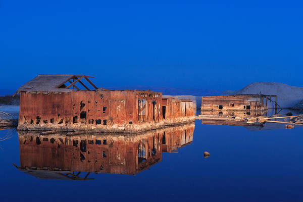 Photograph - Abandoned And Sunken House And Reflection by Scott Campbell