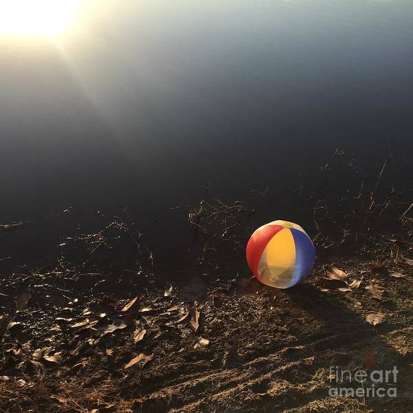 Photograph - Abandoned Beachball by Robin Maria Pedrero