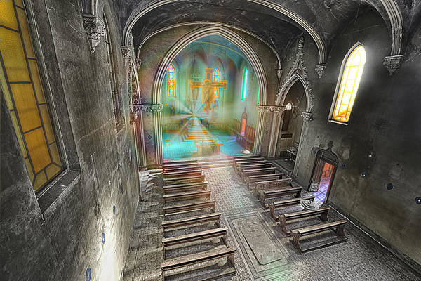 Photograph - Abandoned Blue Church II - Chiesa Blu Abbandonata II by Enrico Pelos
