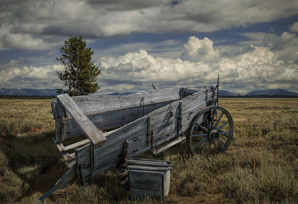 Photograph - Abandoned Broken Down Frontier Wagon by Randall Nyhof