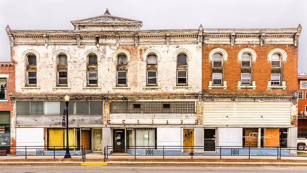 Photograph - Abandoned Buildings On Main Street by Pete Hendley