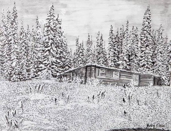 Drawing - Abandoned Cabin by Betsy Carlson Cross