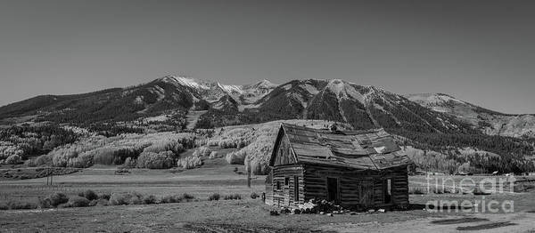 Wall Art - Photograph - Abandoned Cabin Near Crested Butte Bw by Michael Ver Sprill