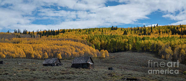 Wall Art - Photograph - Abandoned Cabin On Ohio Pass Road Pano  by Michael Ver Sprill