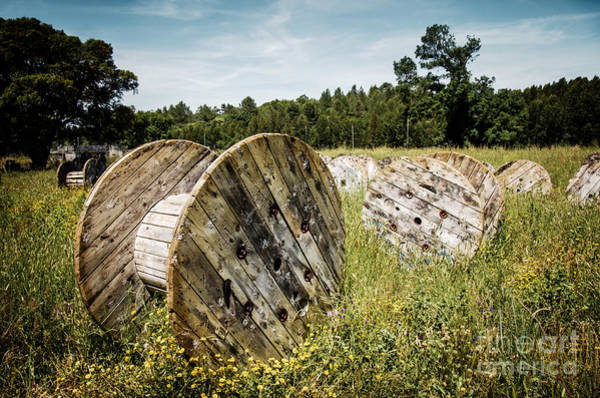 Battle Field Photograph - Abandoned Cable Reels by Carlos Caetano