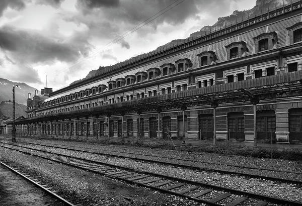 Wall Art - Photograph - Abandoned Canfranc International Railway Station Bw by RicardMN Photography